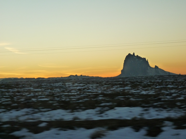 The Shiprock sunset from Hwy 541