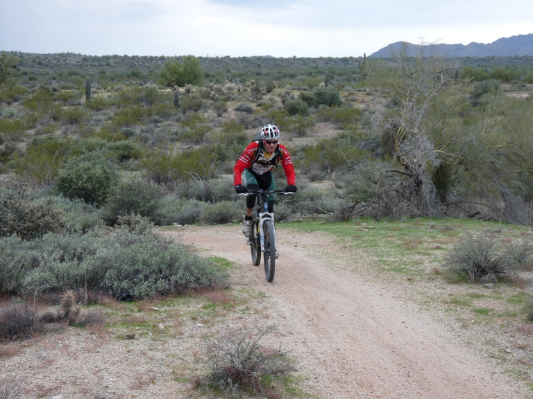 Brian Palen getting Dirty at McDowell Mtn Park Competitive Tracks