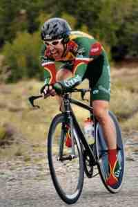 John Stadick on the TT downhill- Maximum O2 uptake!
