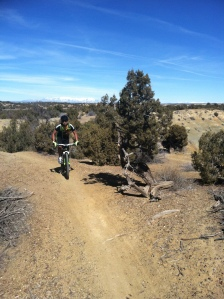 Orville Practicing new skills out on the Road Apple trails.