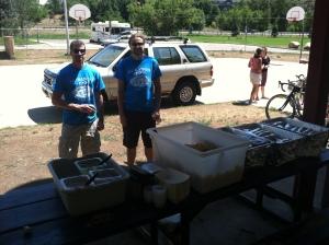 Steve and Beau the Zia burrito-miesters.